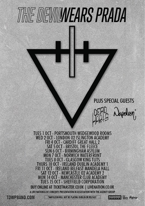 Dead Harts Announce UK Tour With The Devil Wears Prada