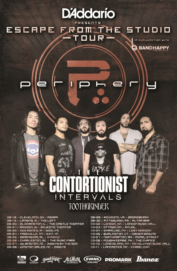 Periphery Announce Fall 'Escape From The Studio' Tour