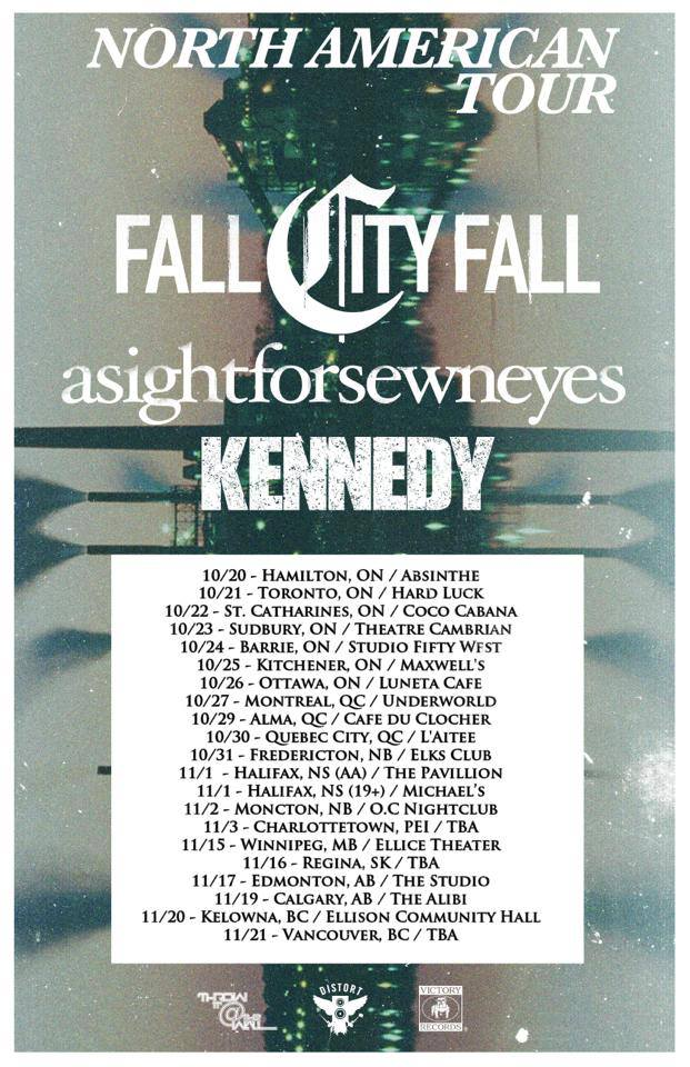 A Sight For Sewn Eyes North American Tour With Fall City Fall