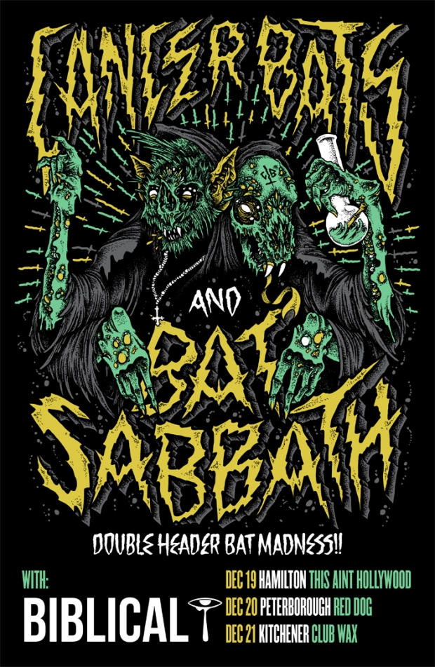 Cancer Bats & Bat Sabbath Double Header Shows Announced